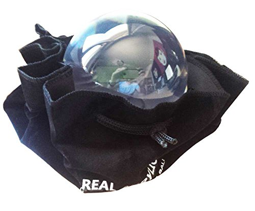 Real Acrylic Acrylkugel Fuer Kontaktjonglage durchsichtig 100mm 650g mit Aufbewahrungstasche