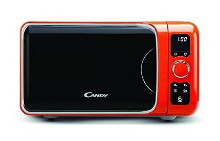 Candy EGO-G25DCO Microondas con grill, 6 programas automáticos, 900 W / 1000 W, 25 litros, N, naranja