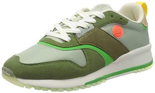 SCOTCH & SODA FOOTWEAR Damen Vivi Sneaker, Green/Cream Multi, 38 EU
