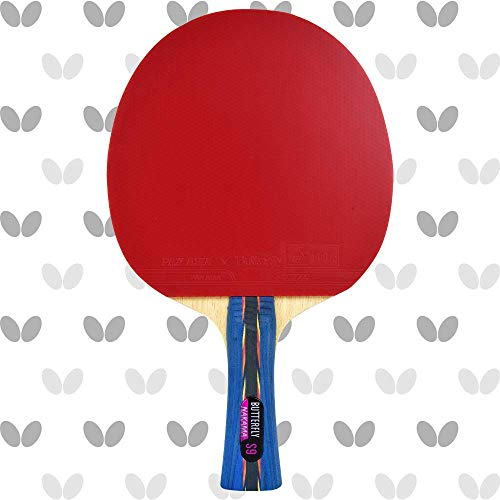 Butterfly Nakama S-9 Table Tennis Racket – ITTF Approved Ping Pong Paddle – Pan Asia Table Tennis Rubber and Thick Sponge Layer Ping Pong Racket – 2 Ping Pong Balls Included