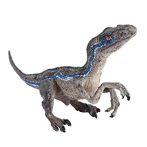 miaomiao Juguete de pelucheFigura De Acción del Dinosaurio Velociraptor Azul Figuras De Colección De Juguetes De Animales Modelo Set Juguetes Pequeños Simulación De Plástico