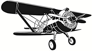 104x58cm,Wall Stickers for Bedroom Girls,Wall Tattoo Art,Airplane Cartoon PVC Decorative Kids Room Ornament Home Decor Office Removable Bathrooms Bedroom Gift Romantic Art Waterproof Acrylic