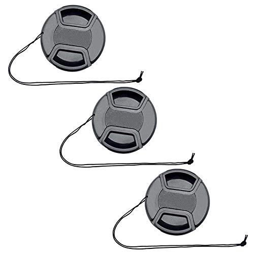 ULBTER 40.5mm Tappo Coprilente Copriobiettivo Anteriore Coperchio per Obiettivo Sony E-mount 16-50 mm F3.5-5.6 per Sony Alpha a6500 a6400 a6300 a6000 -3 pezzi