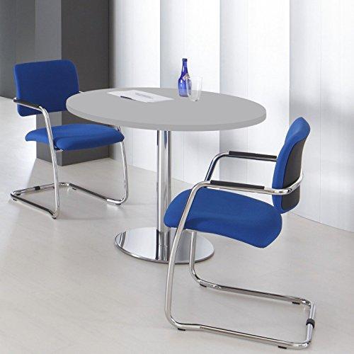 WeberBÜRO Optima runder Besprechungstisch Esstisch Küchentisch Tisch Lichtgrau Rund Ø 100 cm