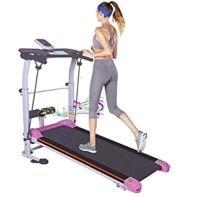 Folding Non-Electric Treadmill for Home/Office,...