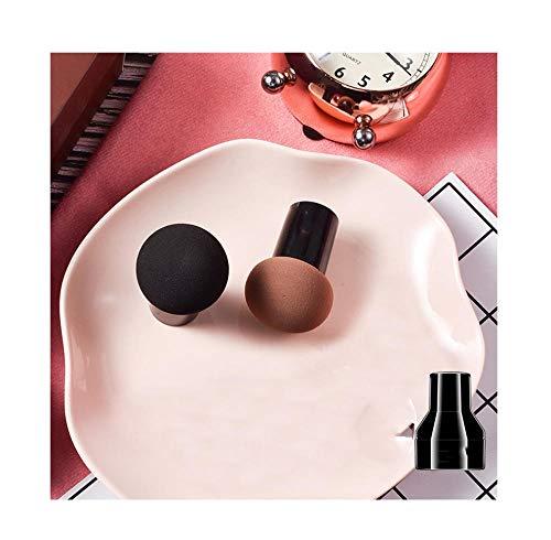 2 paquetes, no comer hojaldre de maquillaje de cabeza de hongo rosa, huevo de belleza, colchón de aire, húmedo y seco, con cáscara protectora-A3