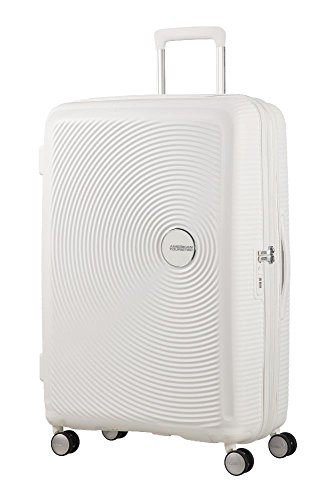 American Tourister - Soundbox Spinner Expandible, 55cm, 35,5/41 L - 2,6 KG, Blanco (Pure White)