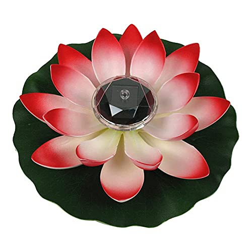 Waterproof Floating Lotus Light Pond Light LED Solar Lamp Operated Lily Flower White Light, Flower Night Lamp, Pool Garden Fish Tank Wedding Decor (Color : Style1)