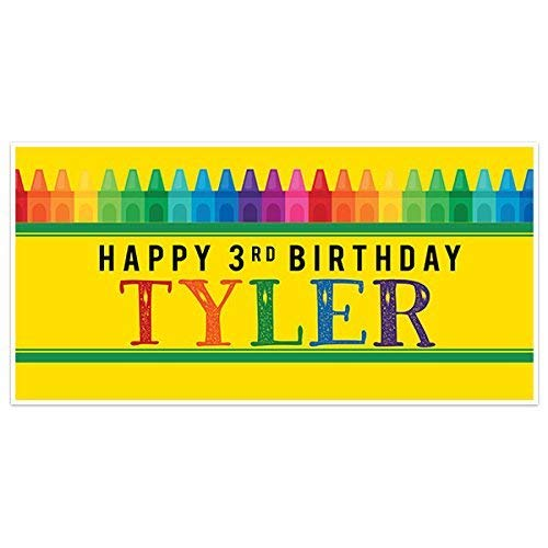 Crayon Box Birthday Banner Party Decoration Backdrop