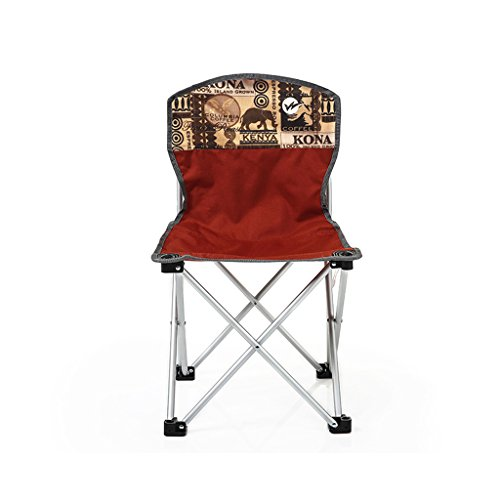 MUTANG Chaise Pliante en Plein air Chaise de pêche arrière Portable Chaise de Plage décontractée Chaise de Pause déjeuner Rouge