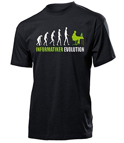 Informatiker Evolution 4602 Herren Männer Fun Shirt Aufdruck Lustig Spruch Tshirt Geburtstag Geschenk Schwarz Aufdruck Grün M