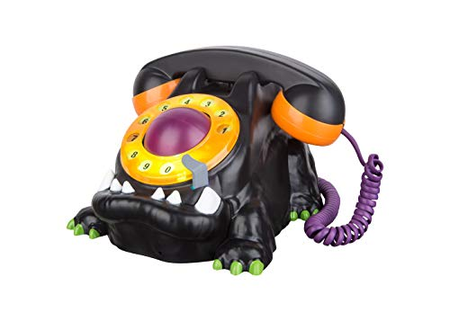 8 Inch Animated Monster Spooky Haunted Halloween Telephone with Light and Sound
