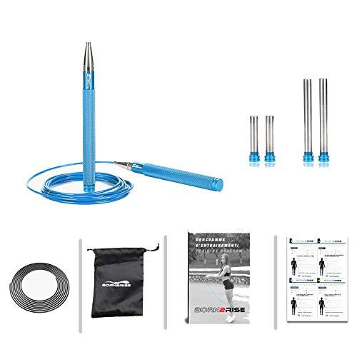 Born2Rise™ Comba para Saltar Empuñaduras de Aluminio Crossfit, Boxe,...