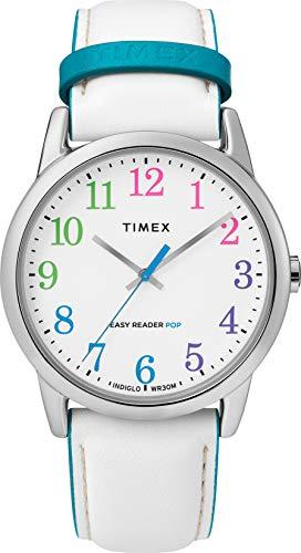 Timex Damen Analog Quarz Uhr mit Leder Armband TW2T28400