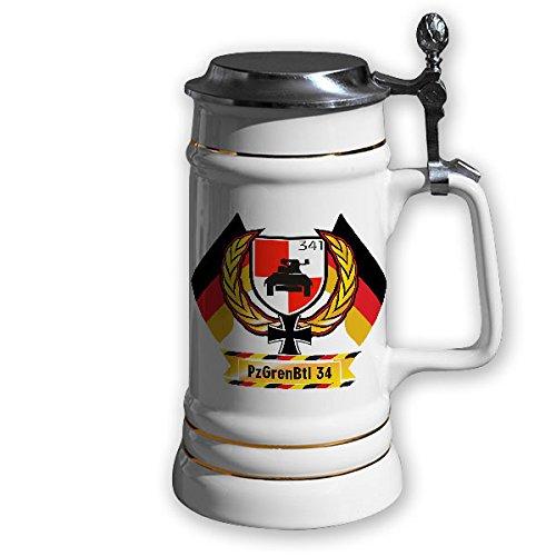 Keramik Reservistenkrug 0,7l - PzGrenBtl 341 Panzergrenadier Bataillon Bundeswehr BW Grennis Infanterie BW #11850