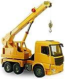 Pkjskh Voiture Manuel Sliding Ingénierie Véhicule de transport camion à benne ingénierie Modèle coulissant manuel grue de camion-grue de construction modèle de voiture jouet for enfants