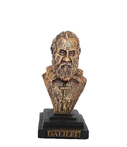 Gênios da Ciência - Busto de Galileu Galilei - Dourado - Buraco de Minhoca (1)