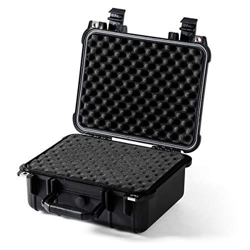 COSTWAY kamerakoffer Hartschalen, Universalkoffer wasserdicht, Fotokoffer Waffenkoffer, Transportkoffer Schaumstoff für Kameraobjektive und Zubehör (14'')