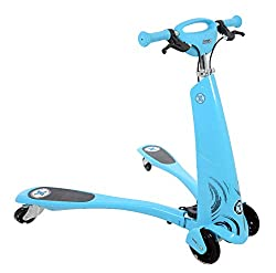 Excellent motion propelled scooter 80mm PU rear wheels with lights ABEC 7 Bearings and maximum user weight 50kg Responsive handbrake and high grip footplate 120mm PU front wheel
