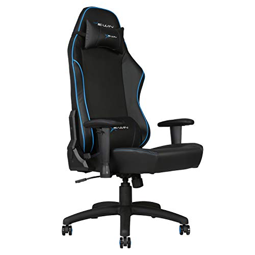 E-WIN Gaming 400 lb Big and Tall Office Chair,Ergonomic Racing Style Design with Wide Seat High Back...