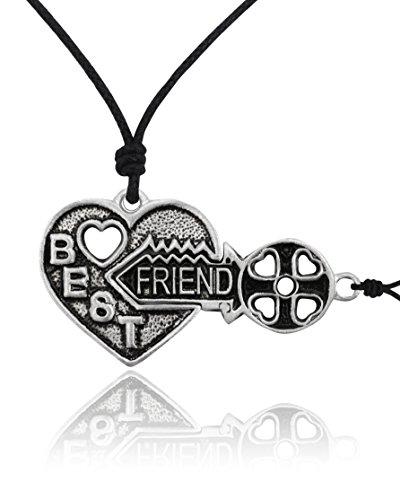 Vietguild Best Friend Yin yang Silver Pewter Charm Necklace Pendant Jewelry