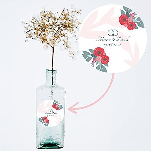 Etiquetas decorativas regalos de boda. Modelo: Roses