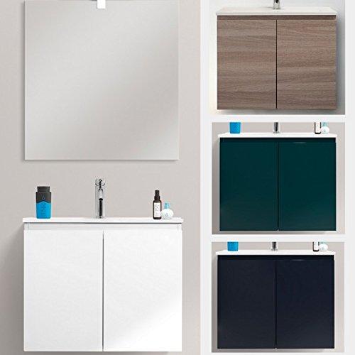 Bagno Italia Mobile arredo Bagno Moderno 60x36 sospeso ultraslim salvaspazio Specchio Incluso lavabo in Ceramica I