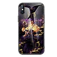 我妻 善逸/あがつま ぜんいつ Agatsuma Zenitsu 携帯電話カバー スマホカバー Iphone保護ケース 強化 ガラス ハードケース フォンケース アニメ漫画 薄型 耐衝撃 多機種 学生 大人用 (2,iphoneXS)