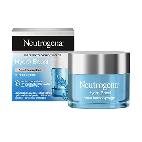 Neutrogena Hydro Boost Aqua Intensivpflege (50 ml), aufbauende Feuchtigkeitscreme und Gesichtspflege...