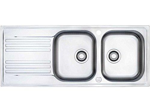 Franke Euroform EFX 621 Edelstahl Doppelbecken Küchenspüle Spültisch Exzenter