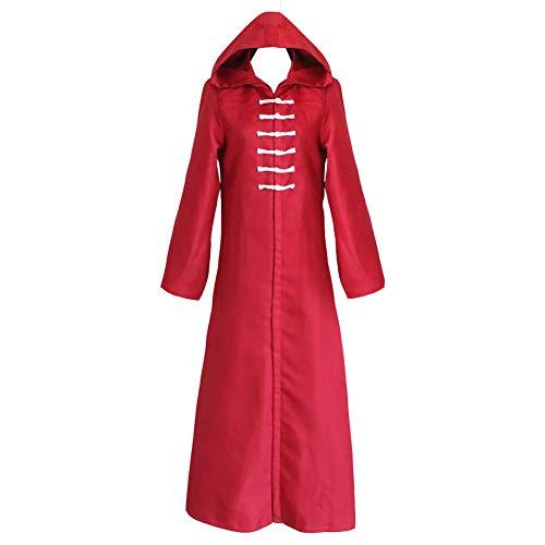 Tokyo Ghoul Cosplay Kostüm Anime Kirishima Ayato Umhang Kapuzen Lange Ärmel Roter Mantel Halloween Party Rollenspiel,M