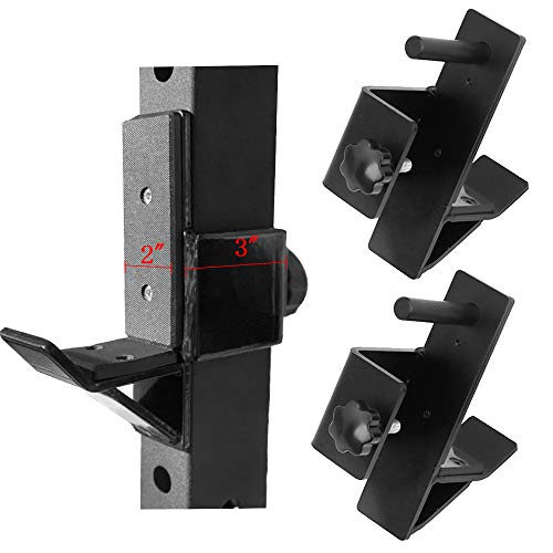 """vikofan 2""""x3"""" J-Cup J-Hook Barbell Holder Power Rack Weight Rack Attachments Fit for Weight Lifting Strength Training"""