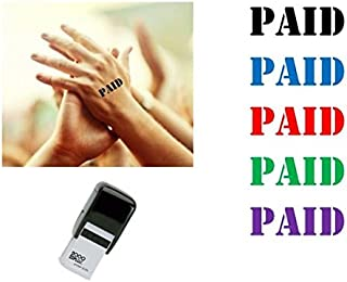 PAID Hand Stamp - suitable for Festivals, Parties, Clubs, Special Events, Bars etc. (Violet)