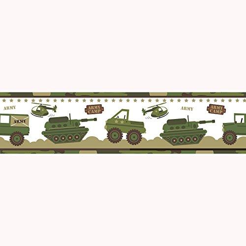 Heereslager camouflage behangrand - A12804 - exclusief design van Price Right Home