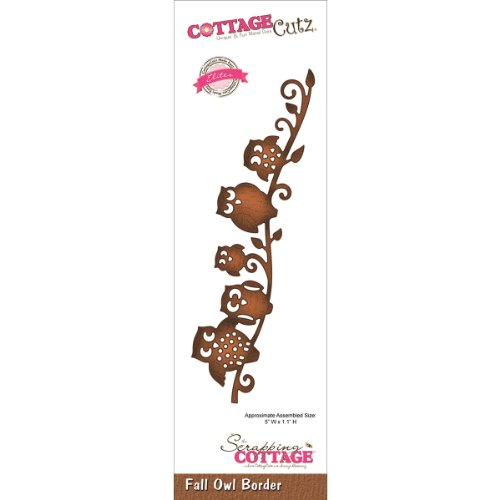 CottageCutz CCE068 Elites Die Cuts, 5 by 1.1-Inch, Fall Owl Border