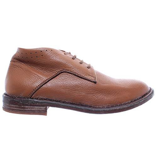 MOMA Damen Schuhe Stiefeletten 35802-Y1 Hellbraun Leder Neue