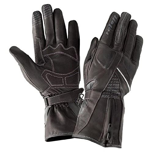 Roleff Racewear Lederhandschuhe für Damen, Schwarz, S