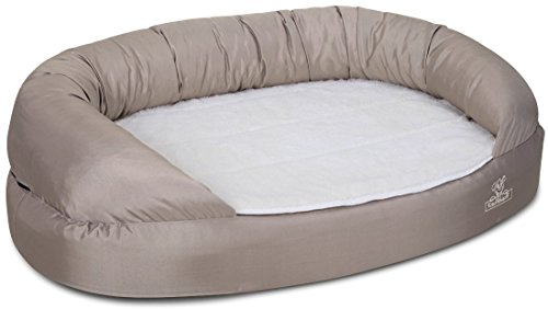 Knuffelwuff 13123 Orthopädisches Hundebett Ortho Bed Jessy – Größe S – M, 73 x 50 x 24cm, beige - 2