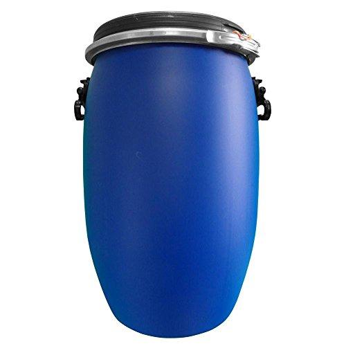 Fusto in plastica (HDPE) ad apertura totale, rotondo, capacità 60 Lt, ADR/ONU per solidi (coperchio incluso) (60 Lt - Polietilene Alta Densità (HDPE))