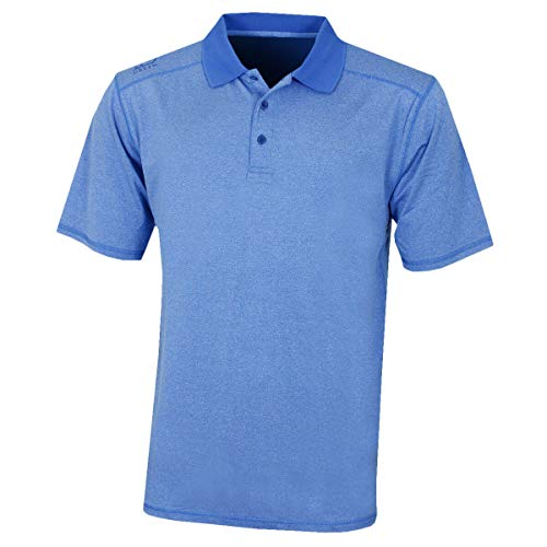 Island Green Herren Golf Mens Marl Moisture Wicking Flexible Polo Shirt Top, Illusion Blue, m