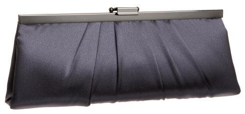 Jessica McClintock 450970 Rectangle Clutch,Pewter,one size