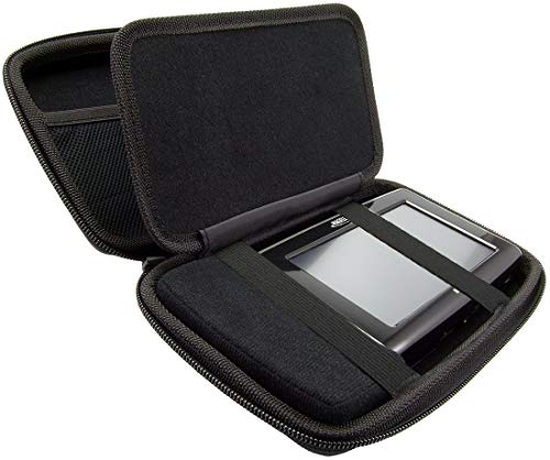 Charger-City Exclusive Multi-Compartment Hard Case for 5' GPS Garmin Nuvi 3760 3597 3450 3490 2455 2457 2475 2495 2497 2557 2577 2597 40 42 44 52 54 T LT LM LMT SatNav GPS Receiver (ChargerCity Direct Product Replacement Warranty)