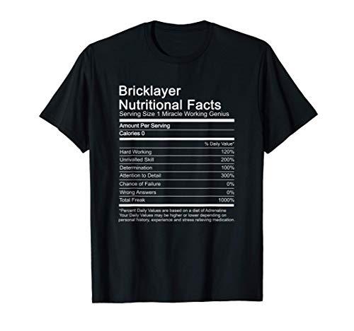 Albañil trabajo información nutricional divertido manitas Camiseta