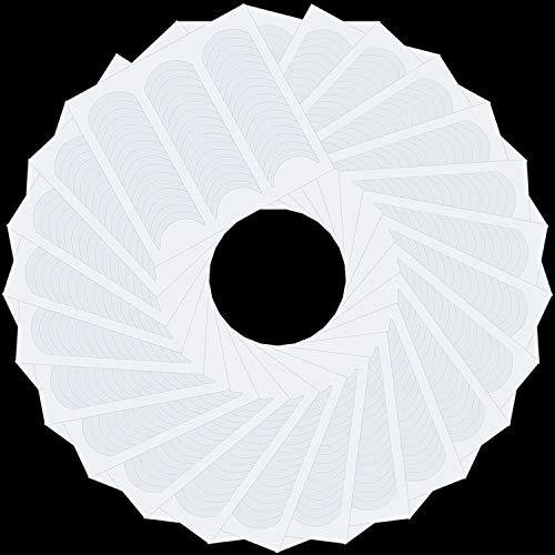 1200 Pièces Sticker Ongles Manucure Française Autocollants Tips Guide Ongles Français Auto-Adhésifs Autocollants de Manucure Blanc en Forme de Demi-Lune pour d'Art d'Ongle Français (25 Feuilles)