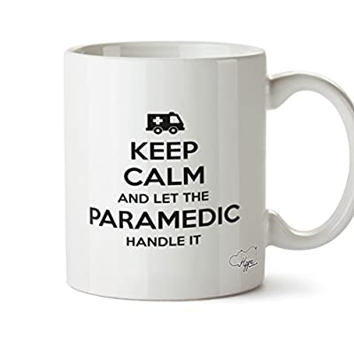 Hippowarehouse Keep Calm and let The Paramedic Handle it Printed Mug Cup Ceramic 10oz from Hippowarehouse