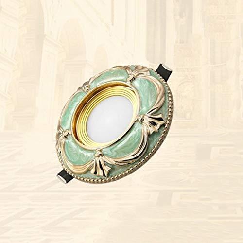 Mumnk Anti-Glare-LED vertiefte Decken-Strahler Antike Klassische Emerald Green Ceramic Round...