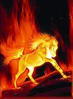燃える馬500ピースジグソーパズル 木製ジグソー脳チャレンジ