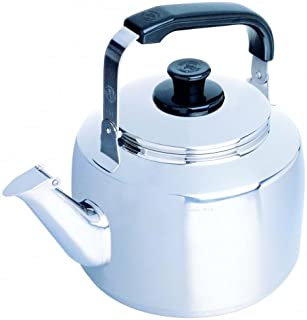 1 Liter Zebra Polished Mirror Finish Stainless Steel Canister Stovetop Teakettle Tea Kettle Teapot, Gas Electric Induction Compatible