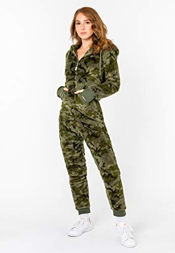 Eight2Nine Damen Jumpsuit mit Ohren, Dark-Green - 6