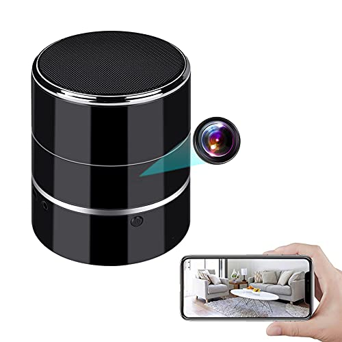 Camera Bluetooth Speaker, 1080P WiFi Mini Video Recorder with Motion...